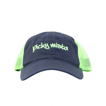 Picky Mista Men's Cap - Navy & Neon Yellow - Front View