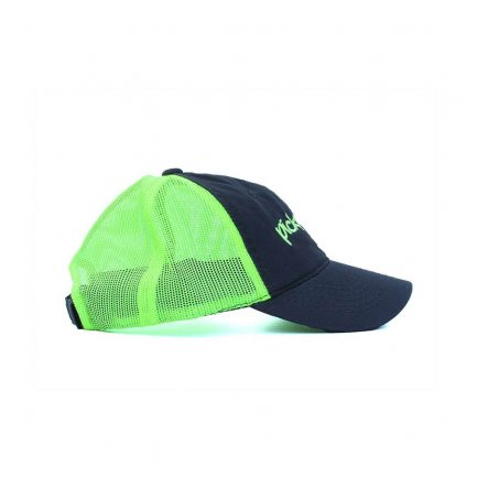 Picky Mista Men's Cap - Navy & Neon Yellow - Side View