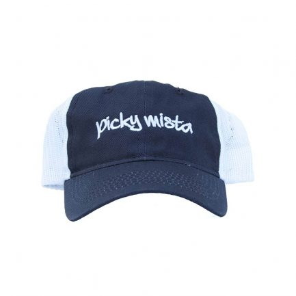 Picky Mista Men's Cap - Navy & White - Front View