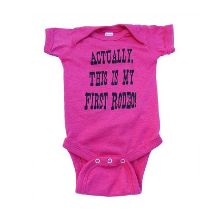 My First Rodeo Infant/Toddler Onesie - Pink