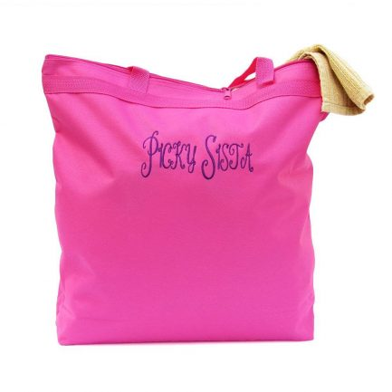 Picky Sista Tote Bag - Hot Pink