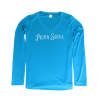 Women's Performance V-Neck Long Sleeve Shirt - Electric Blue