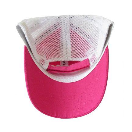 Picky Sista Mesh Back Cap - Pink & White - Bottom