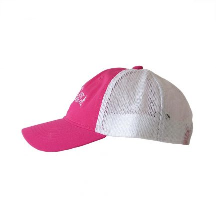 Picky Sista Mesh Back Cap - Pink & White - Side